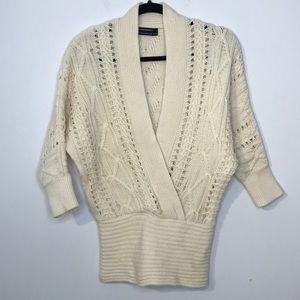 Club Monaco wool blend wrap cutout sweater